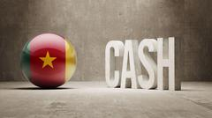 Stock Illustration of Cameroon. Cash  Concept.