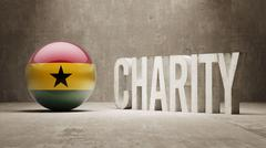 Stock Illustration of Ghana. Charity  Concept