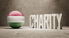 Hungary. Charity  Concept - stock illustration