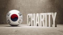 Stock Illustration of South Korea. Charity  Concept