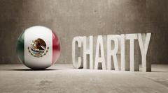 Mexico. Charity  Concept - stock illustration