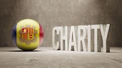 Andorra. Charity  Concept - stock illustration