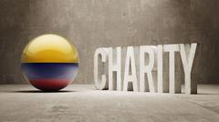 Colombia. Charity  Concept - stock illustration