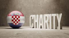 Croatia. Charity  Concept - stock illustration