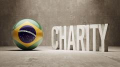 Brazil. Charity  Concept - stock illustration