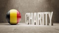 Belgium. Charity  Concept Stock Illustration