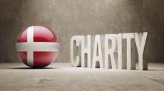Denmark. Charity  Concept - stock illustration