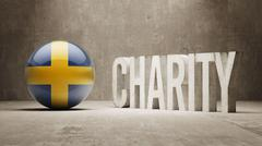 Stock Illustration of Sweden. Charity  Concept