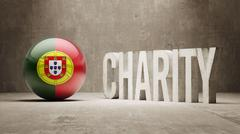 Portugal. Charity  Concept Stock Illustration