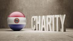 Stock Illustration of Paraguay. Charity  Concept
