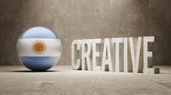 Argentina. Creative  Concept - stock illustration