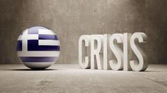 Greece. Crisis  Concept Stock Illustration