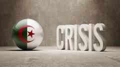 Algeria. Crisis  Concept Stock Illustration
