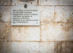 Article 27 of the Italian Constitution. - stock photo