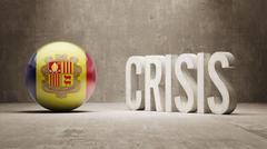 Andorra. Crisis  Concept - stock illustration