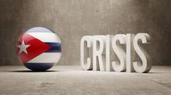 Cuba. Crisis  Concept - stock illustration