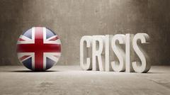 United Kingdom. Crisis  Concept Stock Illustration