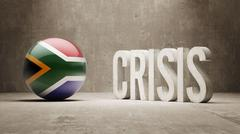 South Africa. Crisis  Concept - stock illustration
