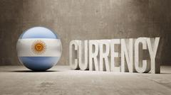 Argentina. Currency  Concept - stock illustration