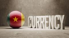 Cameroon. Currency  Concept - stock illustration