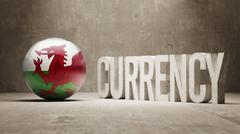 Wales. Currency  Concept - stock illustration
