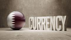 Qatar. Currency  Concept Stock Illustration