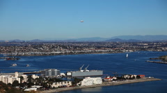 A motion controlled pan of San Diego and Coronado Island Stock Footage