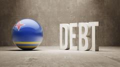 Aruba. Debt  Concept - stock illustration