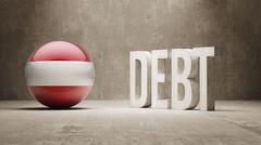 Austria. Debt  Concept Stock Illustration