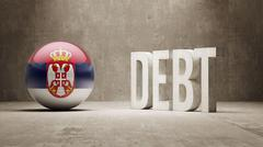 Stock Illustration of Serbia. Debt  Concept