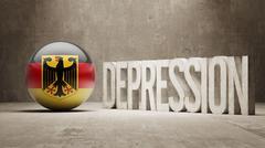 Germany Depression Concept Stock Illustration