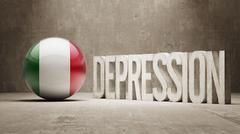 Italy Depression Concept Stock Illustration