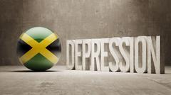 Jamaica Depression Concept Stock Illustration