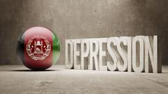 Afghanistan. Depression Concept - stock illustration