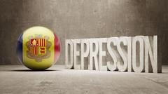 Andorra Depression Concept Stock Illustration
