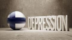Finland Depression Concept - stock illustration