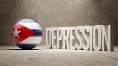 Cuba Depression Concept - stock illustration