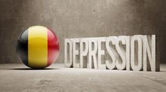 Belgium Depression Concept - stock illustration