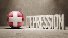 Switzerland Depression Concept Stock Illustration