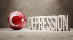 Turkey Depression Concept - stock illustration