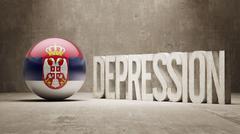 South Africa Depression Concept - stock illustration