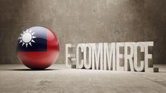 Taiwan. E-Commerce  Concept. - stock illustration