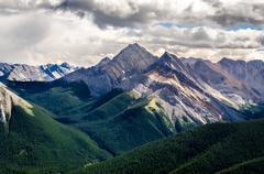 Scenic view of Rocky mountains range, Alberta, Canada - stock photo