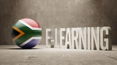 South Africa. E-Learning  Concept - stock illustration