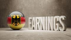 Germany Earnings Concept - stock illustration
