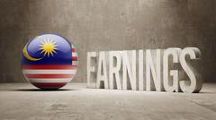 Malaysia Earnings Concept Stock Illustration