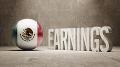 Mexico. Earnings Concept Stock Illustration