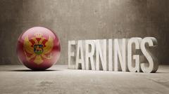 Montenegro. Earnings Concept - stock illustration