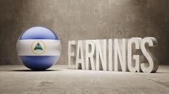 Nicaragua Earnings Concept Stock Illustration