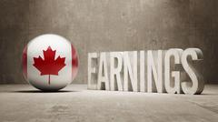 Canada Earnings Concept Stock Illustration